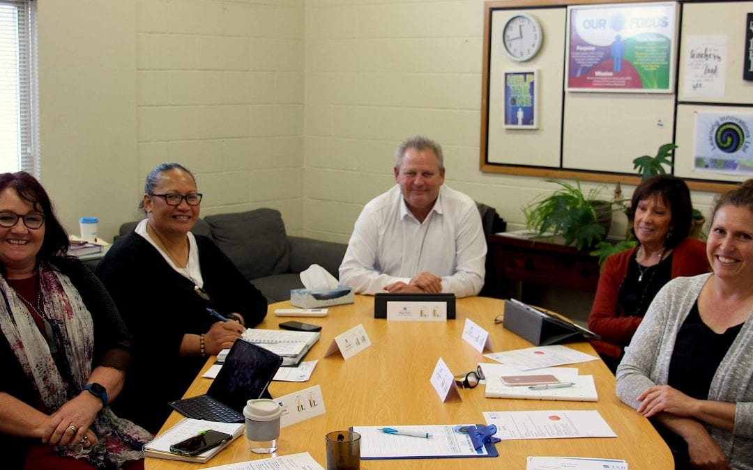Wayne Baird and members of 'The Alternative Board Hawkes Bay at work building businesses